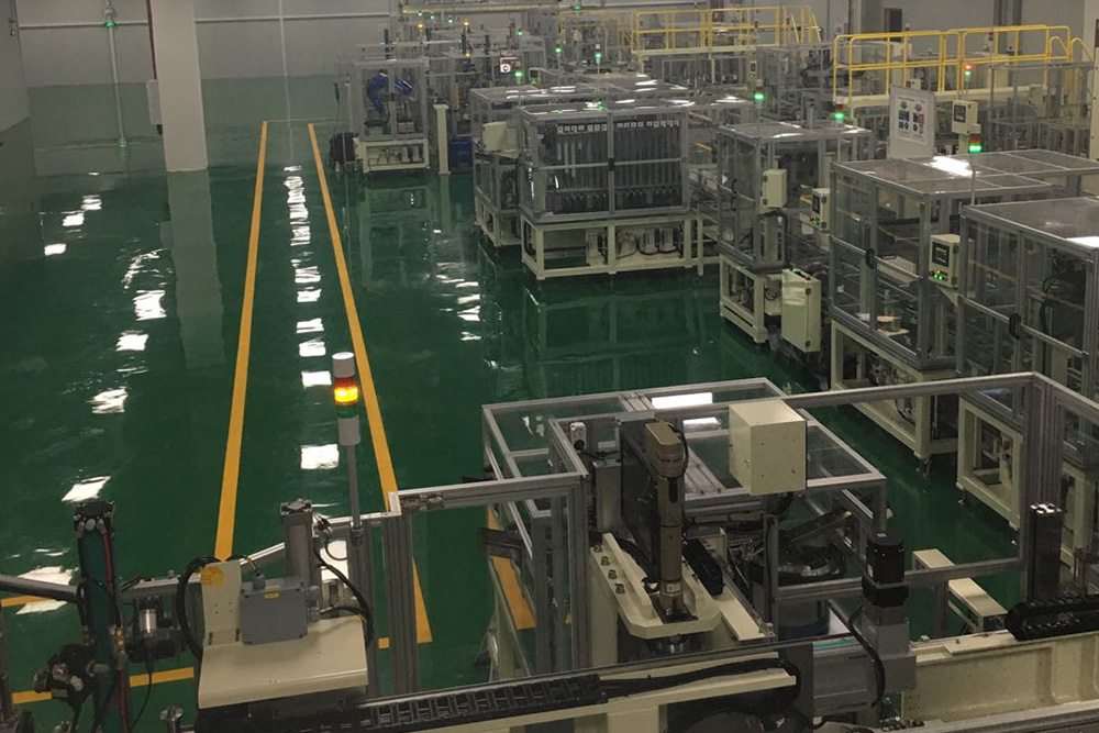 Compressor body automatic assembly line